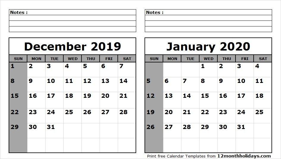 Kalender Dezember 2019 Januar Februar Marz 2020 Vorlage