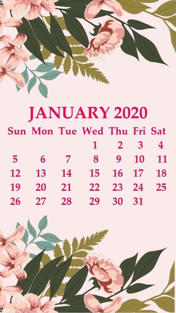 2020 Calendar Desktop Background