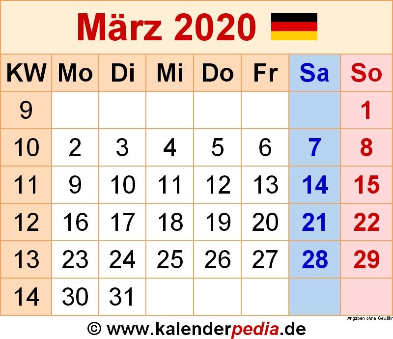 Kalender Januar Februar Marz April 2020 Vorlage