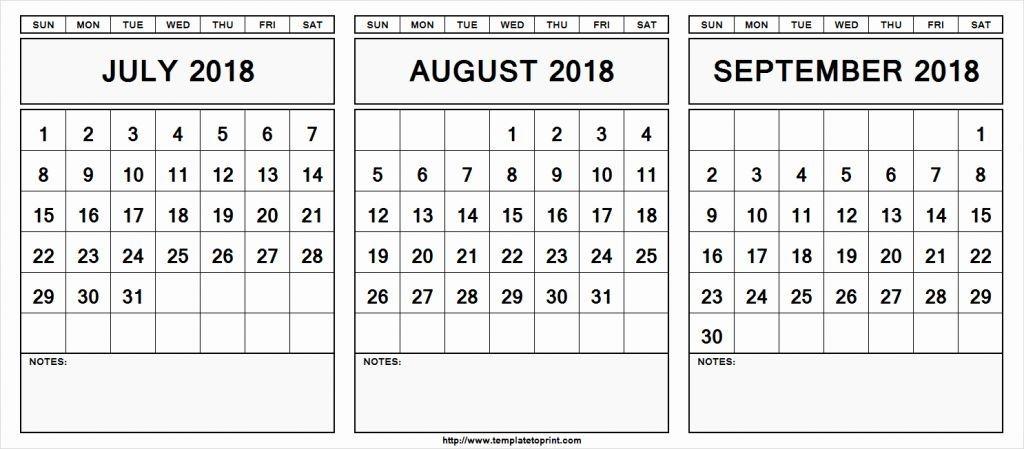 August September 2019 Calendar Editable
