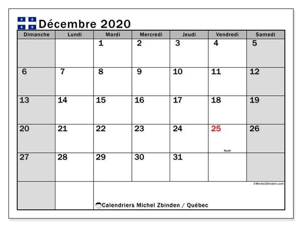 Decembre 2020 Janvier Fevrier Mars 2021 Calendrier