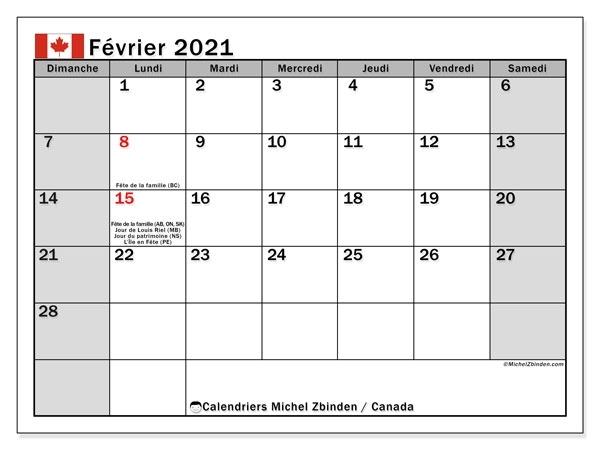 Calendrier Janvier Fevrier 2021 A Imprimer
