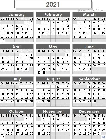 2021 Calendar Templates And Images | Qualads