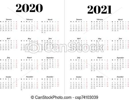 Black And White Calendar 2021