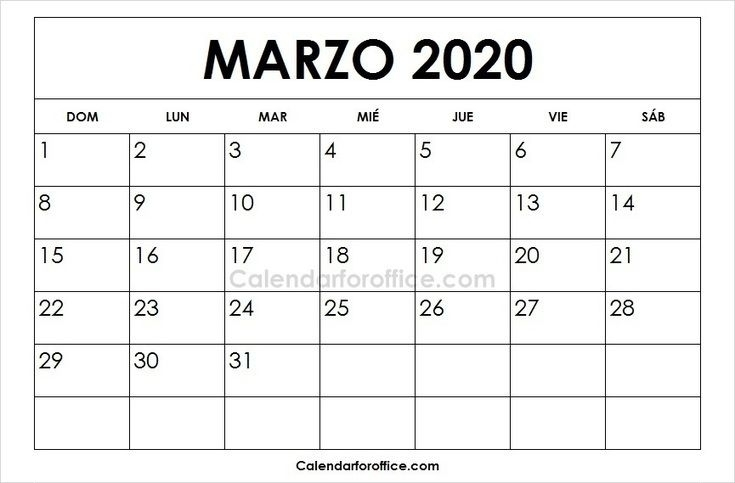 Calendario 2021 Enero Febrero Marzo