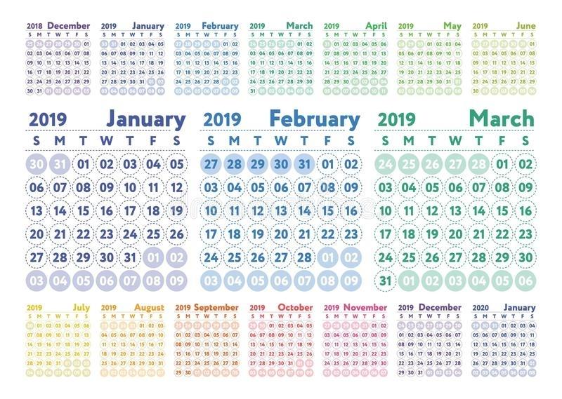 Janvier Fevrier March 2021 Calendrier