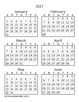 Calendar 2021 Monthly