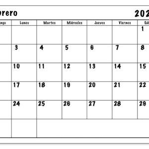 Pdf Calendario Febrero 2020 Para Imprimir | Celldwellertribe