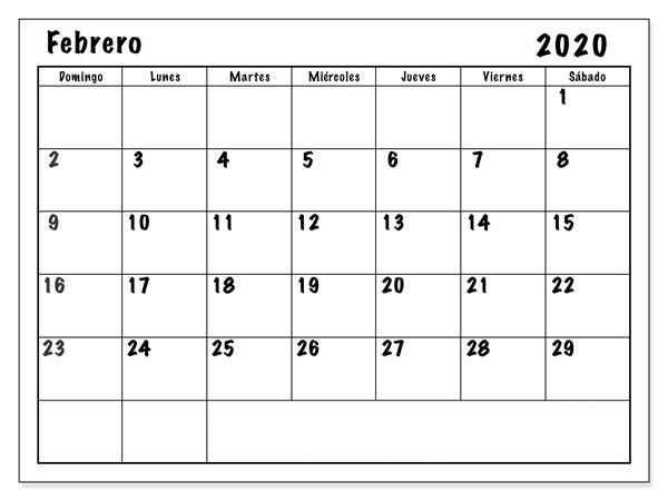 Calendario Enero Febrero Marzo 2021