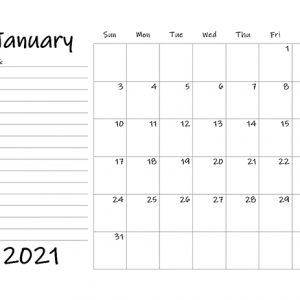 Printable 2021 Blank Calendar Templates - Calendarlabs