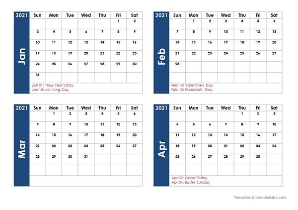 Libreoffice Calendar Template 2021