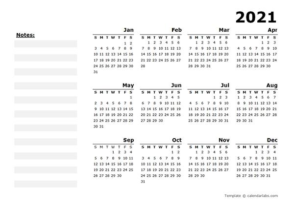 Social Media Calendar Template 2021 Free