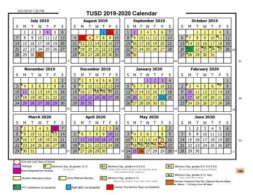 Tusd Calendar 2020 2021