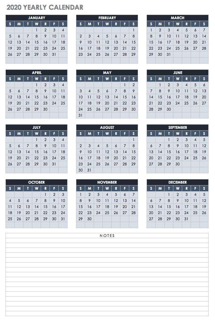 2021 Attendance Calendar Template