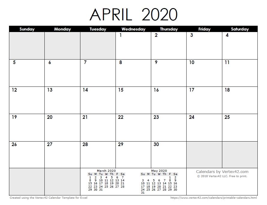 2021 Calendar Template 2020 Calendar Printable