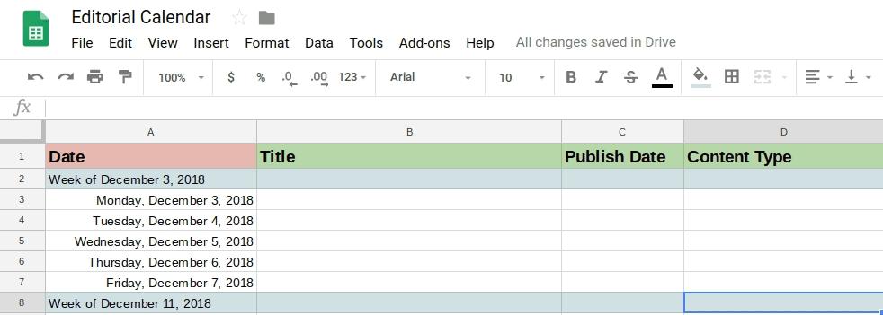 How To Make A Calendar In Google Docs