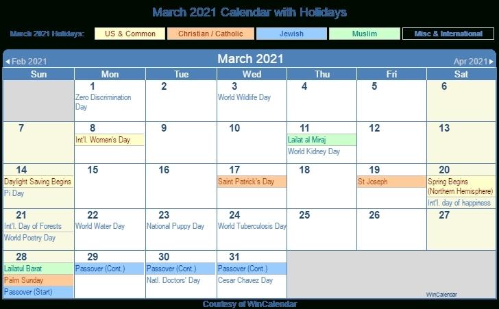 Spring 2021 Calendar