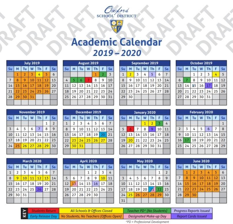 Ole Miss Academic Calendar