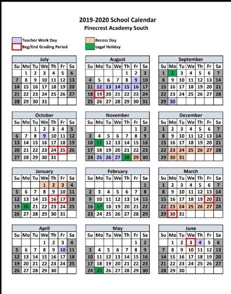 Miamidade School 2021 2020 Calendar | Qualads