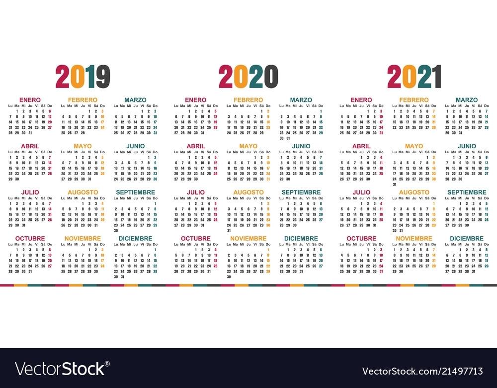 Spanish Calendar 2021