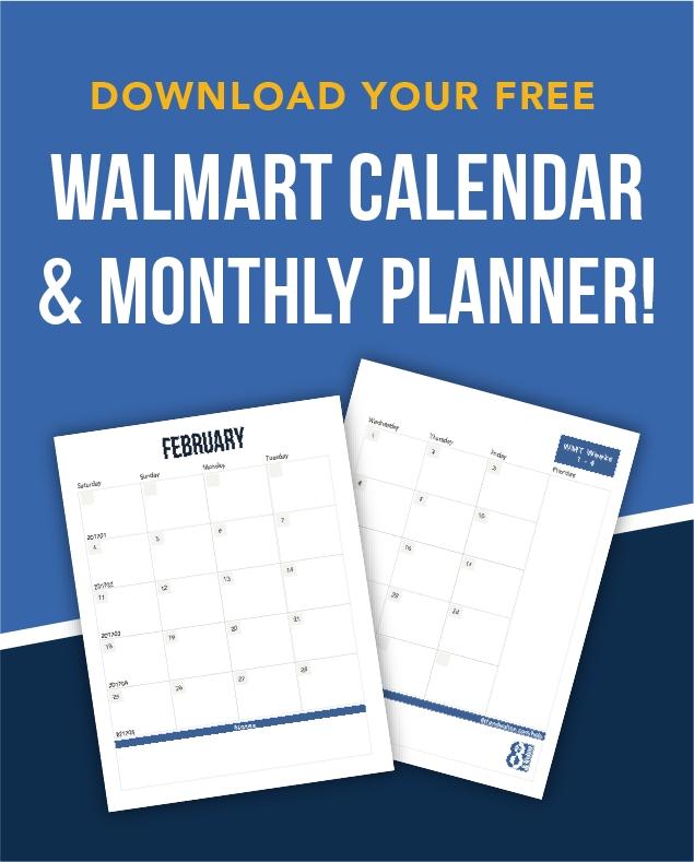 Desk Calendar 2021 Walmart | Qualads