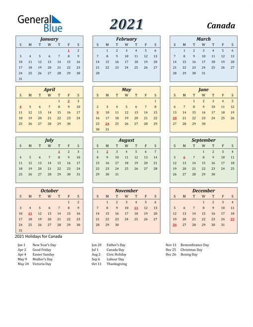 Office Calendar Template 2021