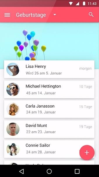 Birthdays App