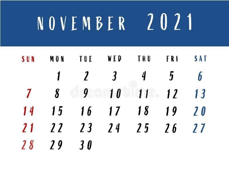 Calendar November 2021 Events