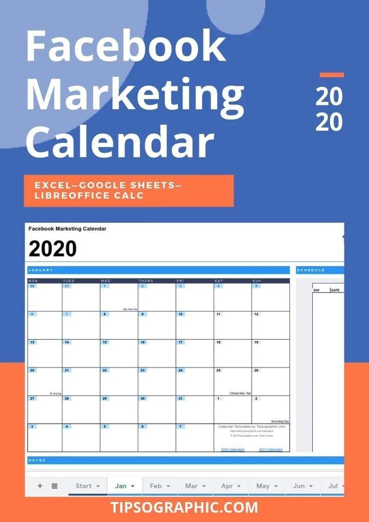 2021 Social Media Calendar Template