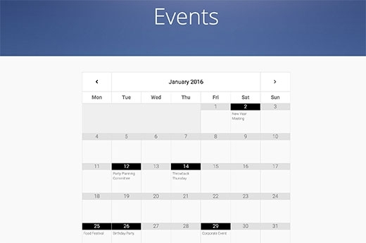 WordPress Google Calendar Widget