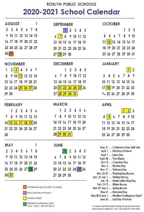 Nyc 2021 And 2020 School Calendar