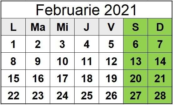 Calendar Ortodox Octombrie 2021