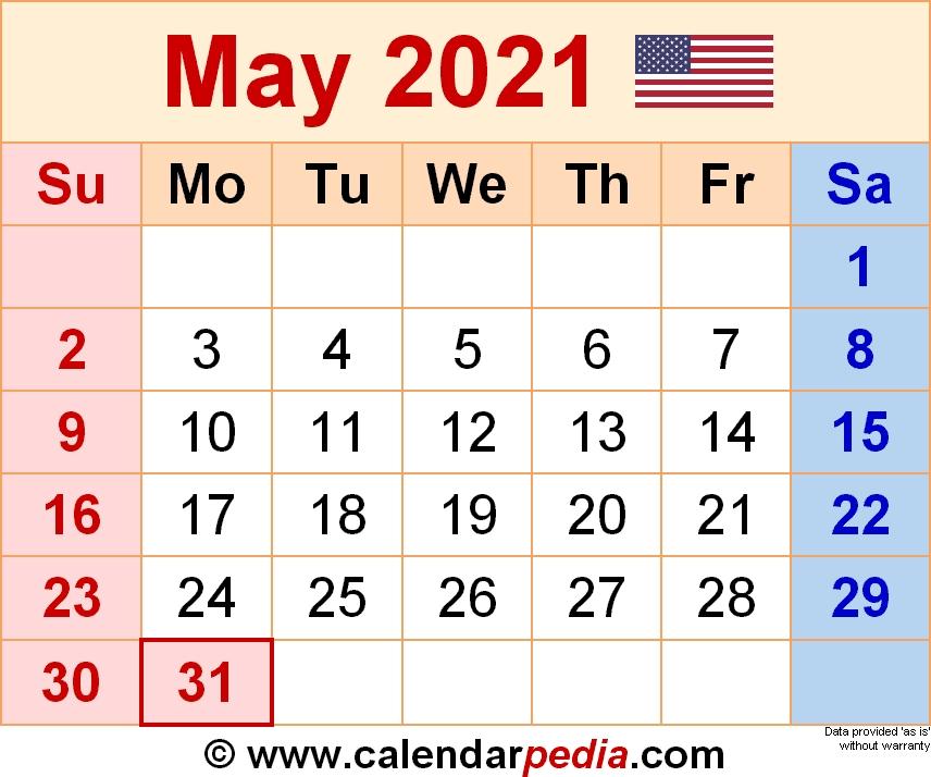 May 2021 Calendar 3