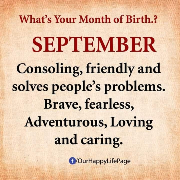 September Born Girl Quotes