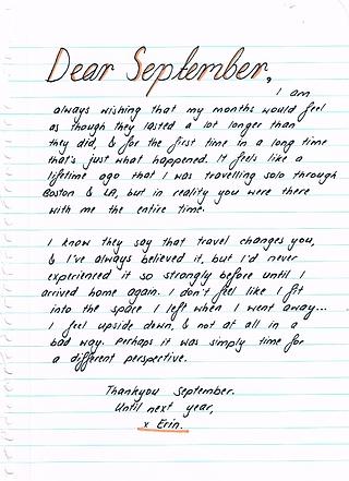 Dear September Quotes