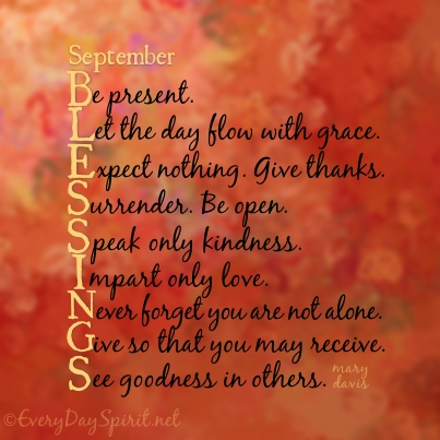 September Blessings Quotes