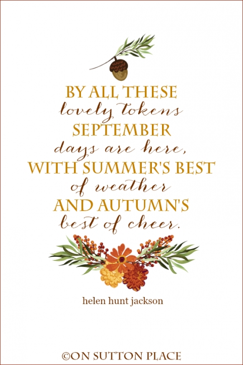 September Quote Free Printables – On Sutton Place