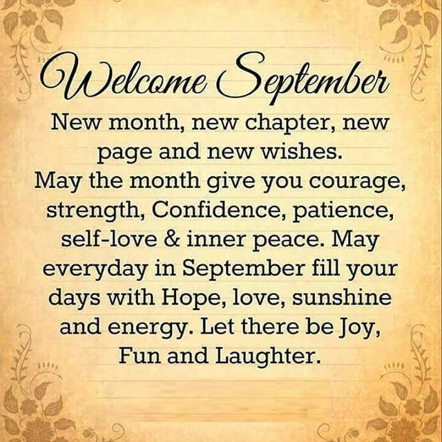 September Wishes Quotes