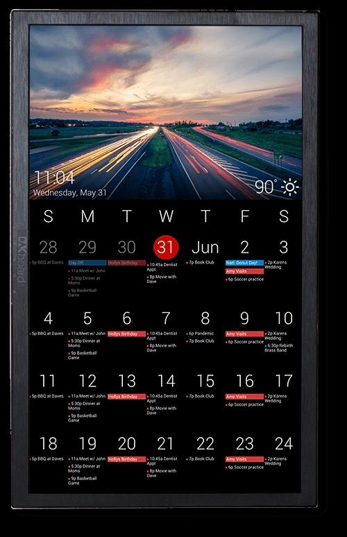 Touch Screen Wall Calendar Large Display Digital Calendar Digital