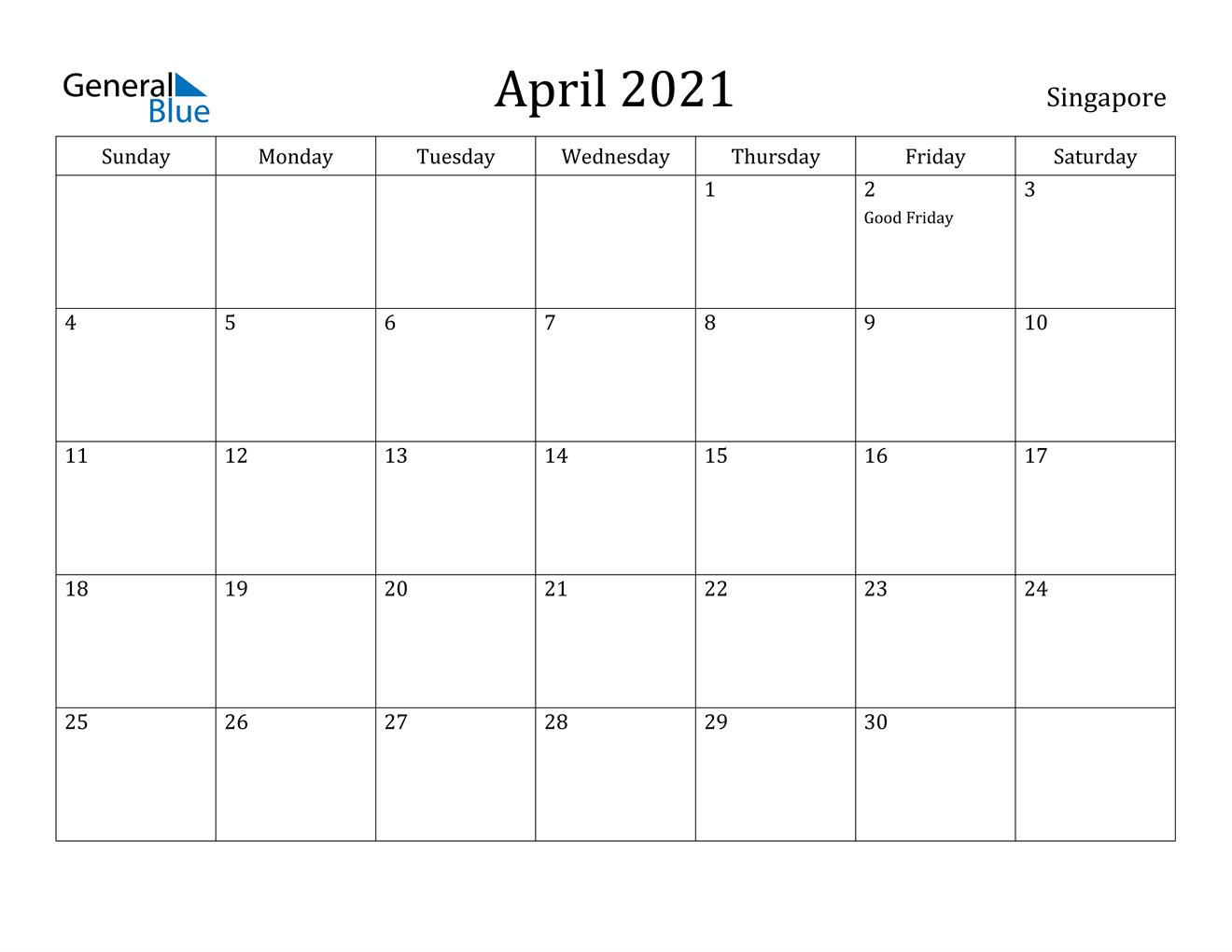 2021 April May Calendar