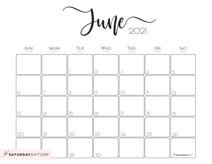 Calendar June 2021 in English