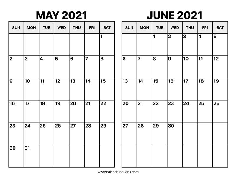 June 2021 Calendar pdf
