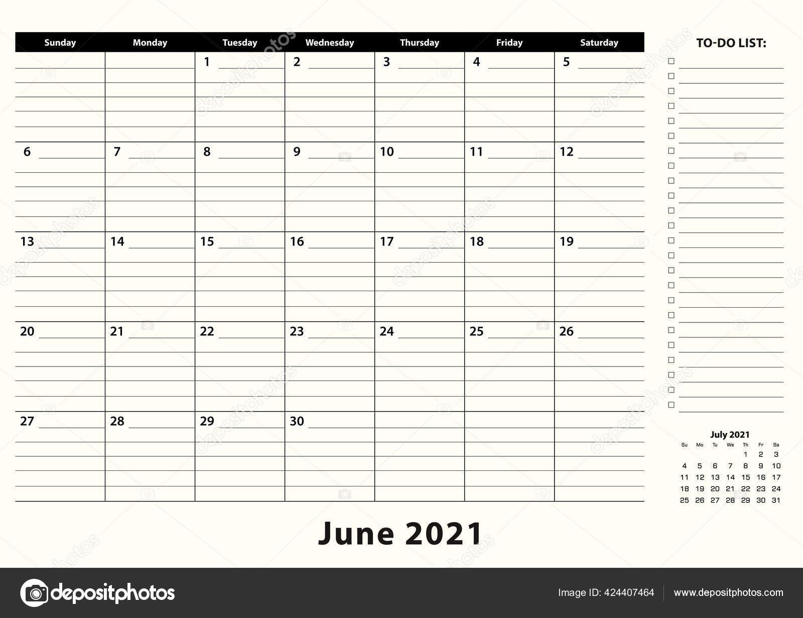 June 2021 Calendar Office