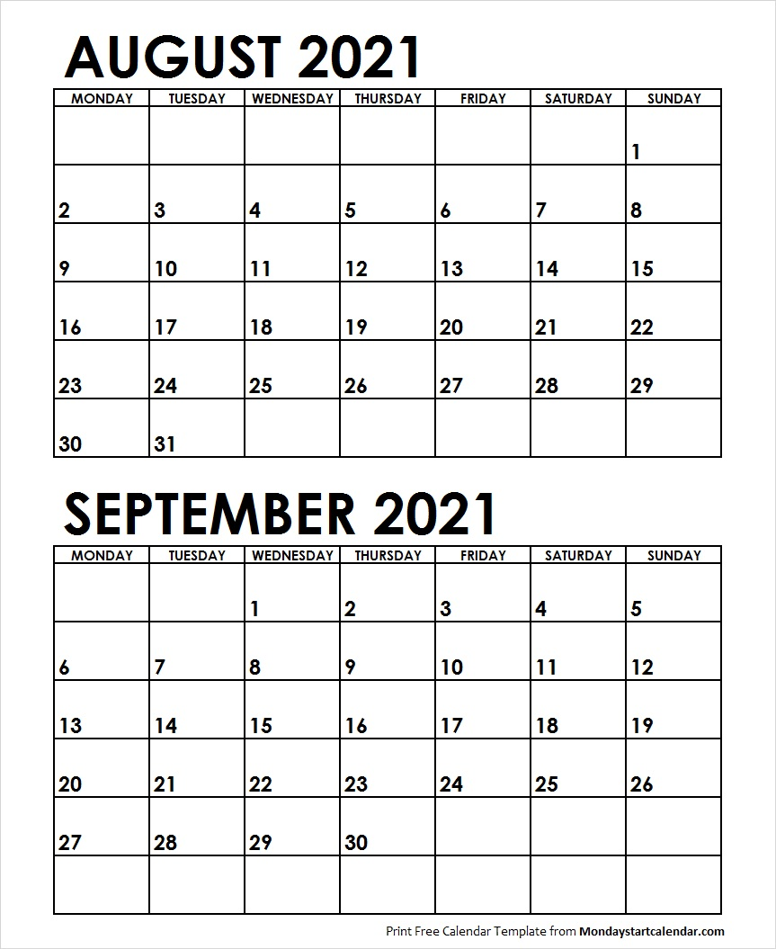 2021 Sep Calendar Template