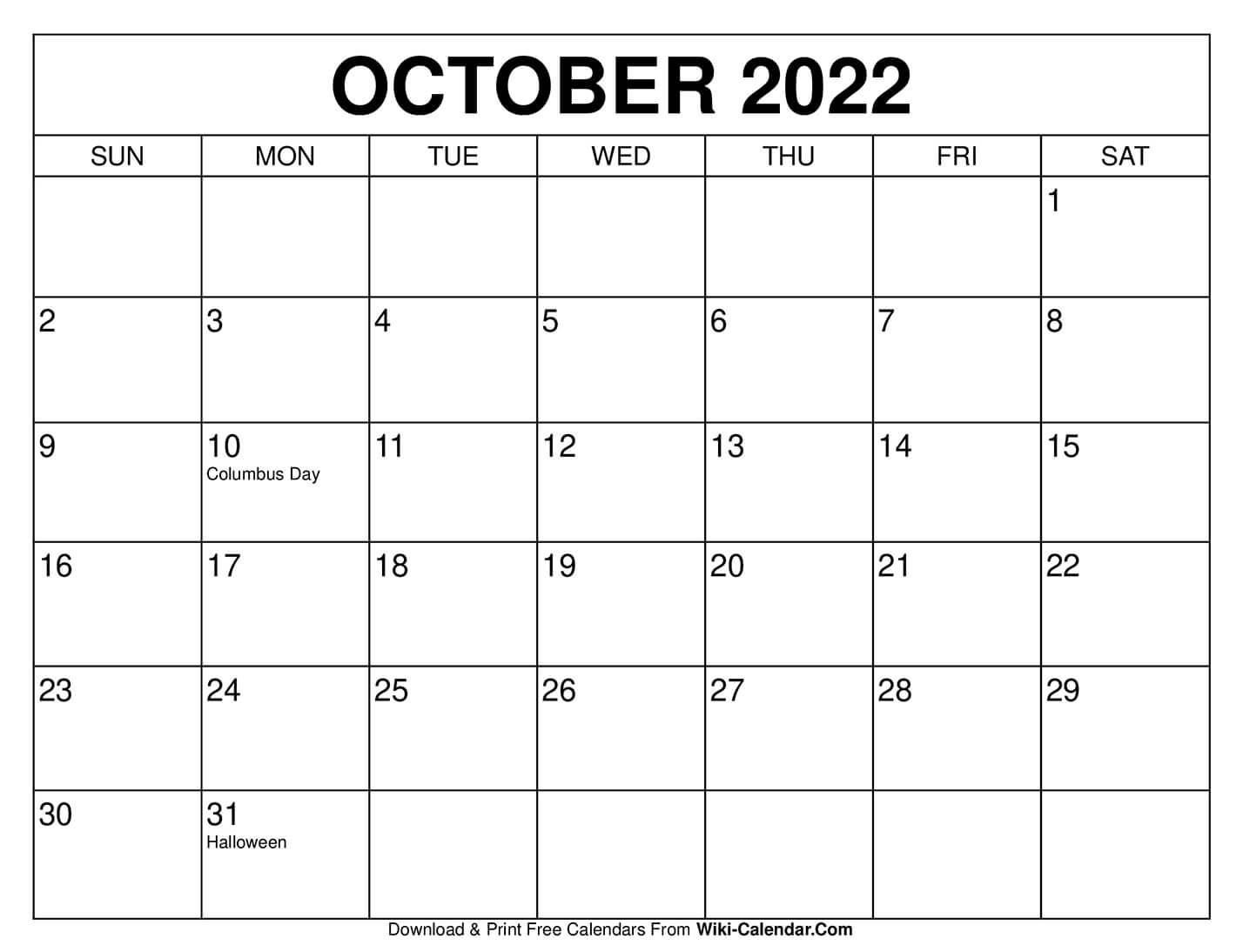 Free Blank Calendar September October 2021